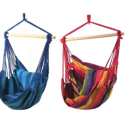Hanging Chair Hammock Color: Sunset/Oasis