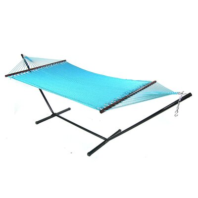 Large 2 Person Rope Tree Hammock Color: Sky Blue