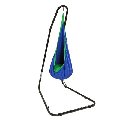 Hanging Chair Hammock with Stand for Children Color: Blue
