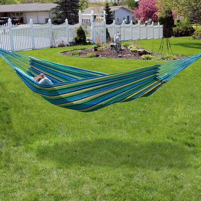 Brazilian Jumbo Double Tree Hammock Color: Sea Grass