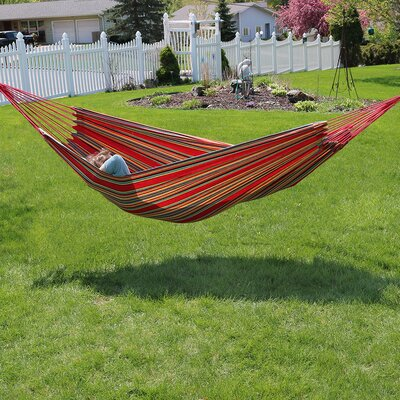 Brazilian Jumbo Double Tree Hammock Color: Sunset
