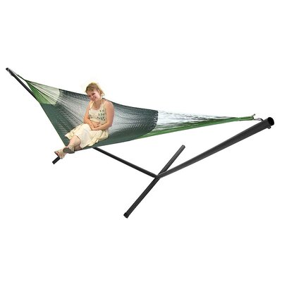 Cotton Hammock with Stand Color: Green
