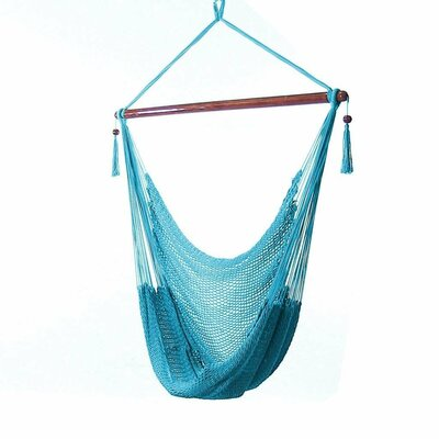 Caribbean Polyester Chair Hammock Color: Sky Blue