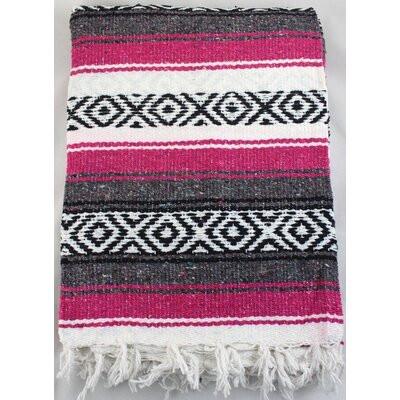 Premium Mexican Beach Yoga Blanket Color: Fuchsia
