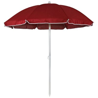 5 Steel Beach Drape Umbrella with Tilt Function Fabric: Red