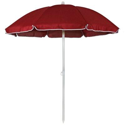 5 Steel Drape Umbrella Fabric: Red