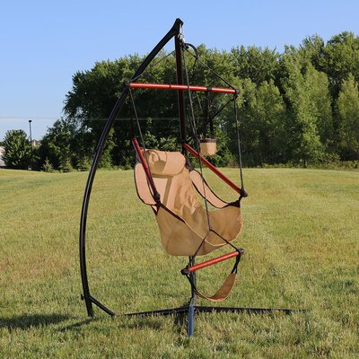 Durable Chair Hammock with Stand Color: Tan