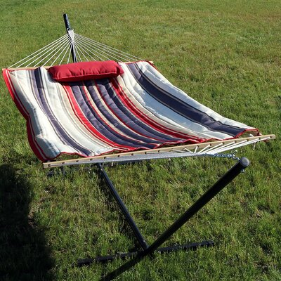 Rope Hammock with Stand Color: Modern Lines