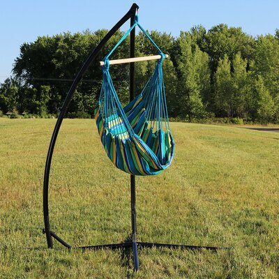 Durable Chair Hammock with Stand Color: Ocean Breeze
