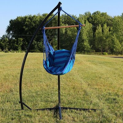 Durable Chair Hammock with Stand Color: Oasis