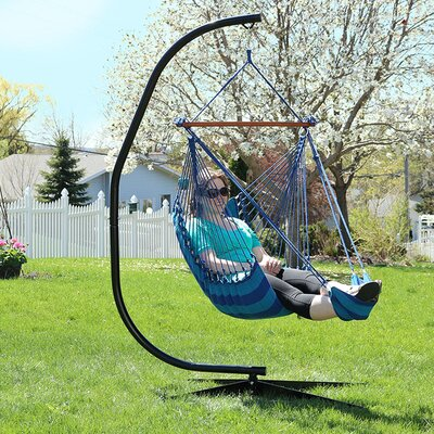 Hanging Padded Soft Cushioned Chair Hammock Color: Beach Oasis