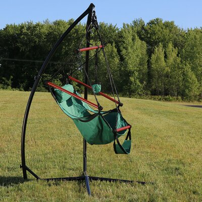 Durable Chair Hammock with Stand Color: Green