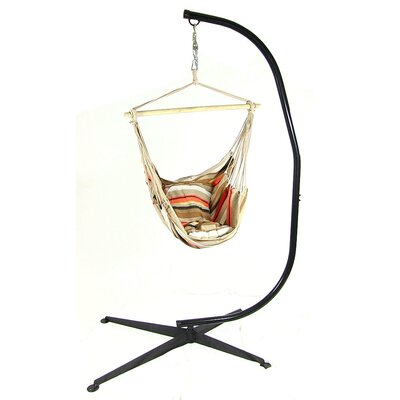 Chair Hammock with Stand Color: Beach Sunrise