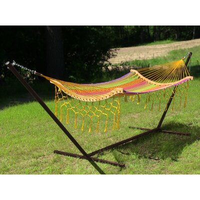 Thick Cord Mayan Hammock with Stand