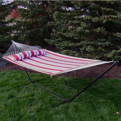 Quilted Double Fabric 2-Person Tree Hammock Color: Peppermint Stripe