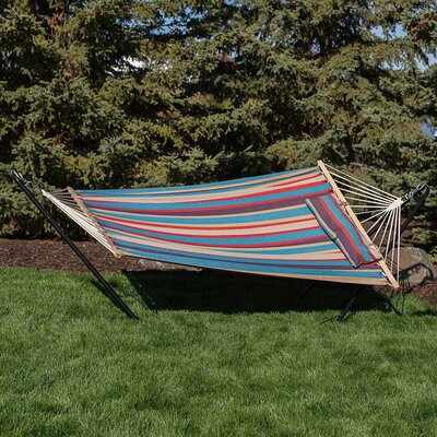 Cotton Fabric Hammock with Stand