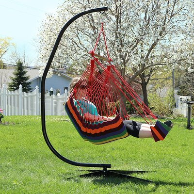 Hanging Padded Soft Cushioned Chair Hammock Color: Sunset