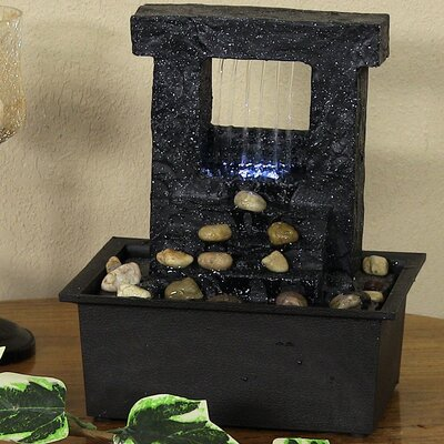 Polyresin Falling Stream Tabletop Fountain with Light XSS-363
