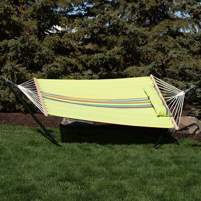 Cotton Fabric Hammock with Stand Color: Wildflower