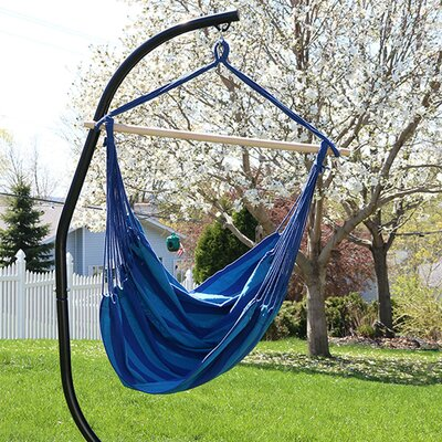 Jumbo Extra Large Chair Hammock with Stand Color: Beach Oasis