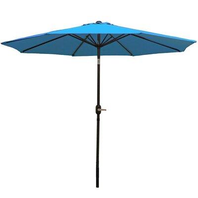 9 Aluminum Market Umbrella Fabric: Turquoise