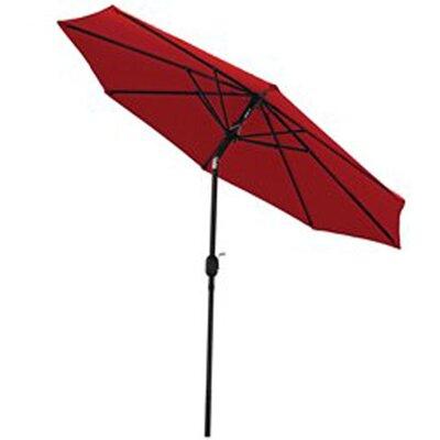 9 Aluminum Market Umbrella Fabric: Red