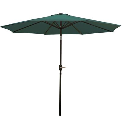 9 Aluminum Market Umbrella Fabric: Green