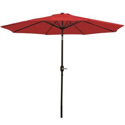 9 Aluminum Market Umbrella Fabric: Burnt Orange