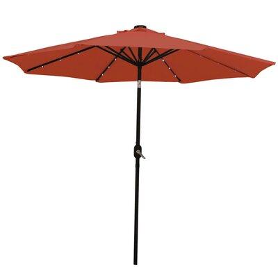 9 Aluminum Solar Illuminated Umbrella Fabric: Burnt Orange