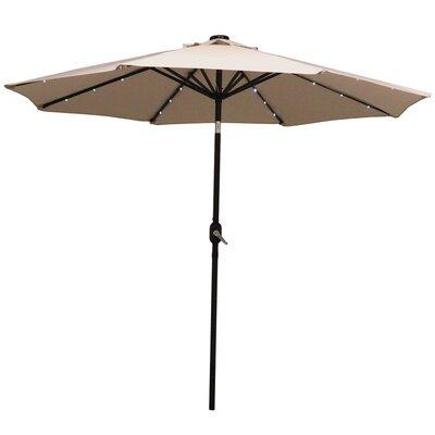9 Aluminum Solar Illuminated Umbrella Fabric: Beige