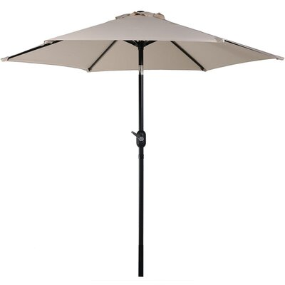 7.5 Aluminum Market Umbrella Fabric: Beige