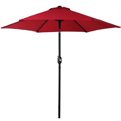 7.5 Aluminum Market Umbrella Fabric: Red