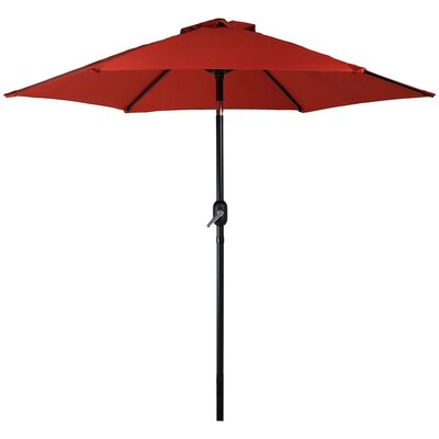 7.5 Aluminum Market Umbrella Fabric: Burnt Orange