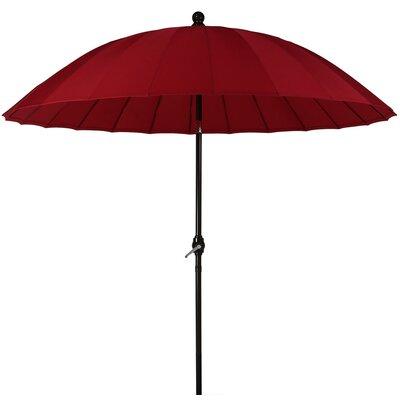 8 Shanghai Aluminum Beach Umbrella Fabric: Red