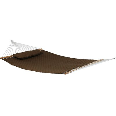 Quilted Designs Double Fabric 2 Person Tree Hammock Color: Brown