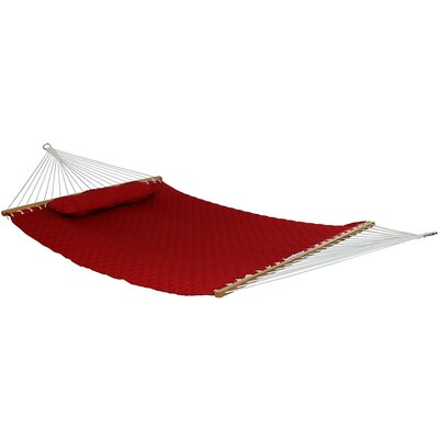 Quilted Designs Double Fabric 2 Person Tree Hammock Color: Red