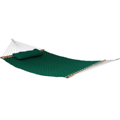 Quilted Designs Double Fabric 2 Person Tree Hammock Color: Green