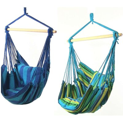 Hanging Chair Hammock Color: Ocean Breeze/Oasis
