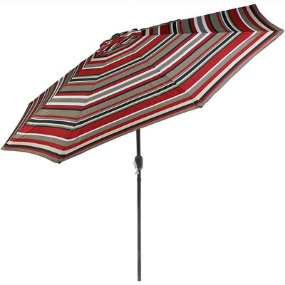 5 Steel Beach Drape Umbrella with Tilt Function Fabric: Awning Stripe