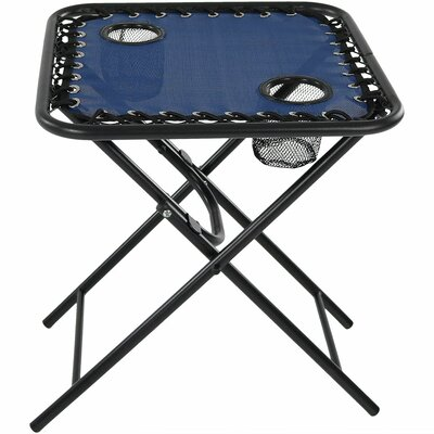 Camille Zero Gravity Folding Side Table Color: Navy