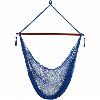 Lilianna Hanging Cabo Extra Large Polyester Swing Chair Color: Blue