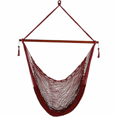 Lilianna Hanging Cabo Extra Large Polyester Swing Chair Color: Red