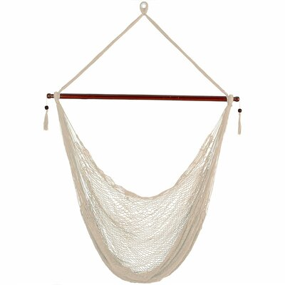 Lilianna Hanging Cabo Extra Large Polyester Swing Chair Color: Cream