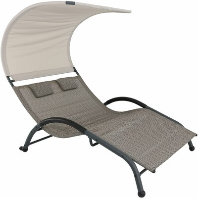 Brenna Double Chaise Lounge Finish: Sienna