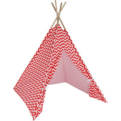 Chevron Kids Teepee Playhouse Color: Red ZBO-072