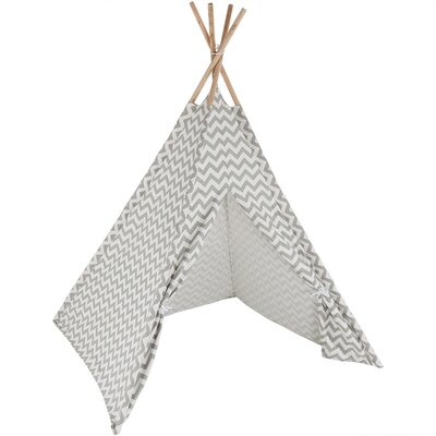 Chevron Kids Teepee Playhouse Color: Gray ZBO-096