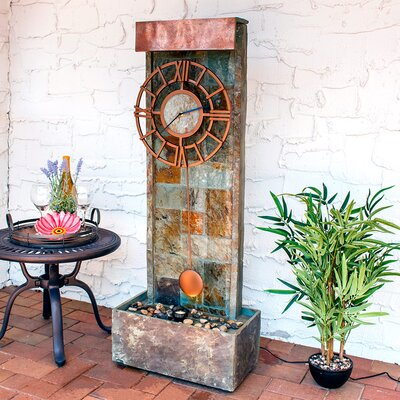 Slate Indoor/Outdoor Water Fountain with LED Spotlight GSI-842