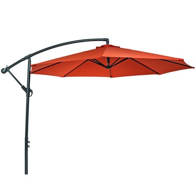 10 Steel Offset Cantilever Umbrella Fabric: Burnt Orange