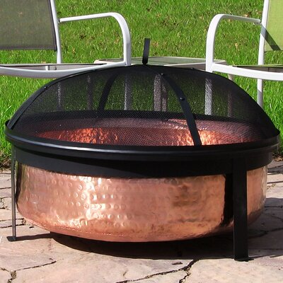 Hammered Copper Wood Fire Pit SM-H101
