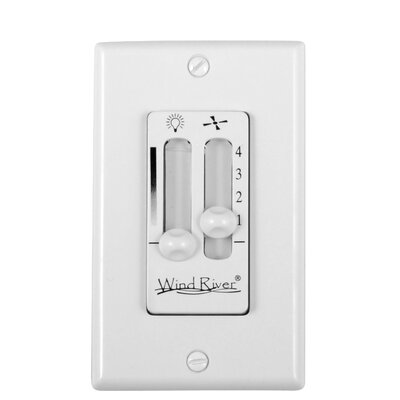 Dual Fan Light Wall Control Color: White